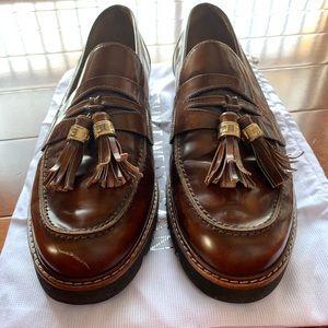 Stuart Weitzman brown leather loafer sz 10.5